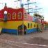 Детскую площадку в парке «Оккервиль» приводят в порядок