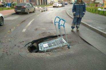 Официальный комментарий по провалам асфальта на улице Столичной