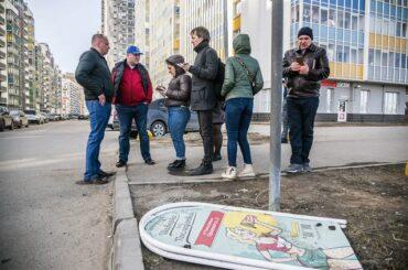 В Кудрово началась весенняя уборка